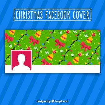 Copertura di facebook con un modello di natale