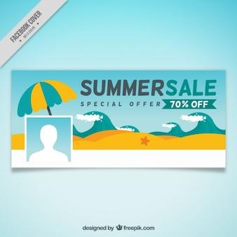 Copertura di vendita della spiaggia di estate