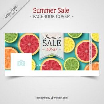 Copertura facebook vendita estate con la frutta