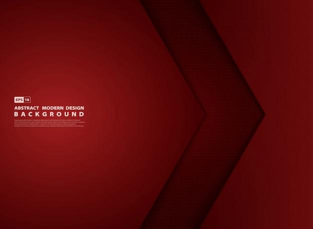 Copertura moderna di sovrapposizione del modello rosso gradiente astratto