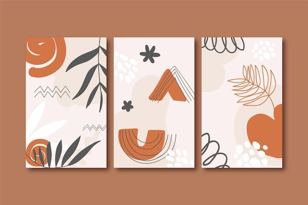 Coperture astratte di forme disegnate a mano