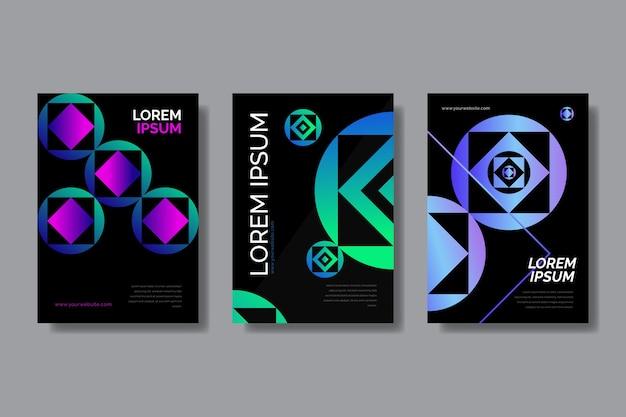 Coperture di forme geometriche sfumate su carta da parati scura