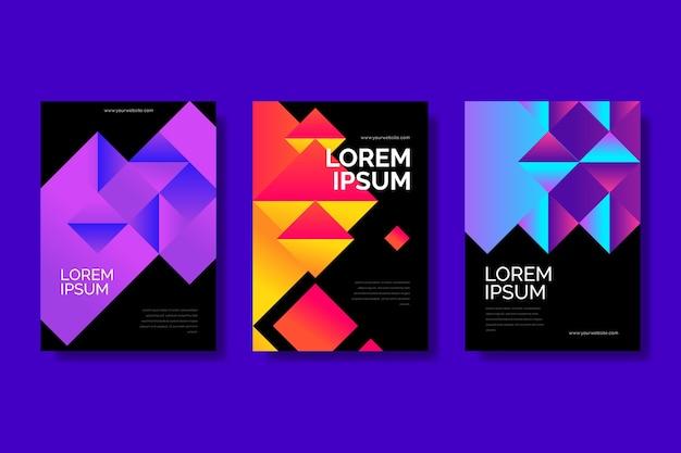 Coperture di forme geometriche sfumate su sfondo scuro