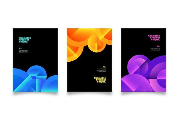 Coperture di forme geometriche sfumate