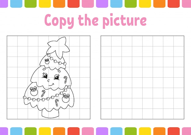 Copia l'immagine. pagine di libri da colorare per bambini.