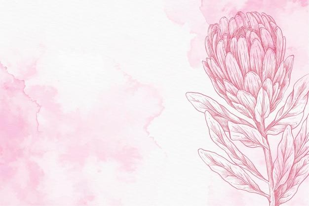 Copia spazio in polvere pastello disegnati a mano sullo sfondo