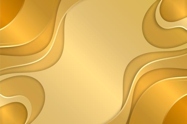 Copia spazio liquido oro lusso sfondo