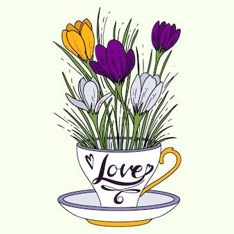 Coppa con fiori