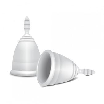 Coppetta mestruale. igiene femminile. protezione per la donna nei giorni critici.