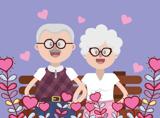 Coppia adorabile dei nonni