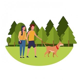 Coppia al parco