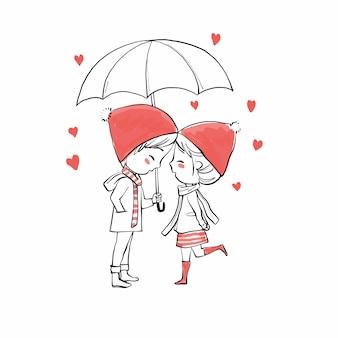 Coppia carina innamorata di san valentino.