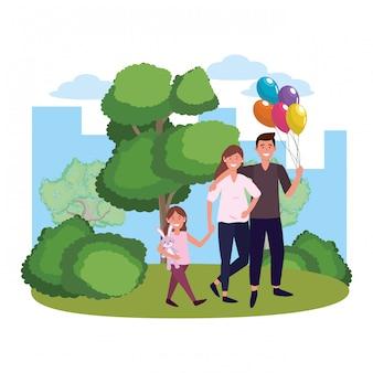 Coppia con bambino