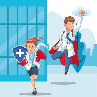 Coppia di super dottori contro covid19 in città