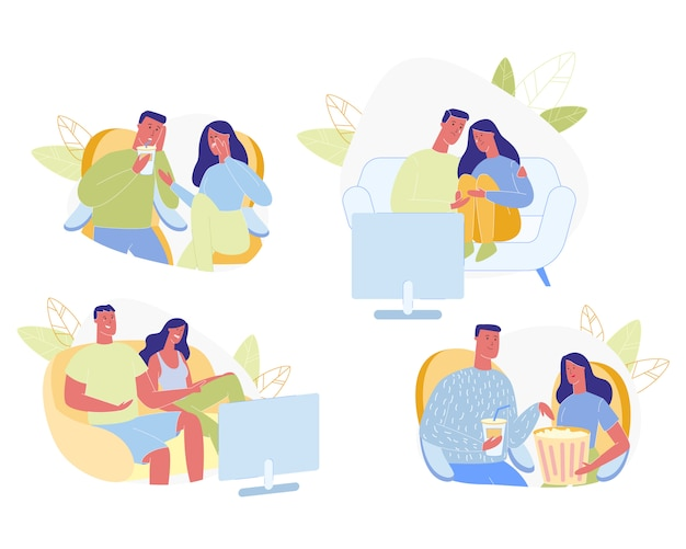 Coppia felice insieme di tempo libero