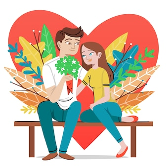 Coppia festeggia san valentino