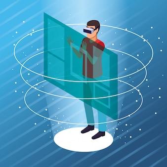 Coppia giocando con la realtà virtuale