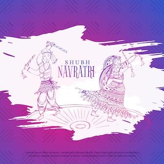 Coppia, gioco, dandiya, navratri, dusseshra, festival