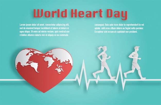 Coppia in esecuzione sulla linea del battito cardiaco.