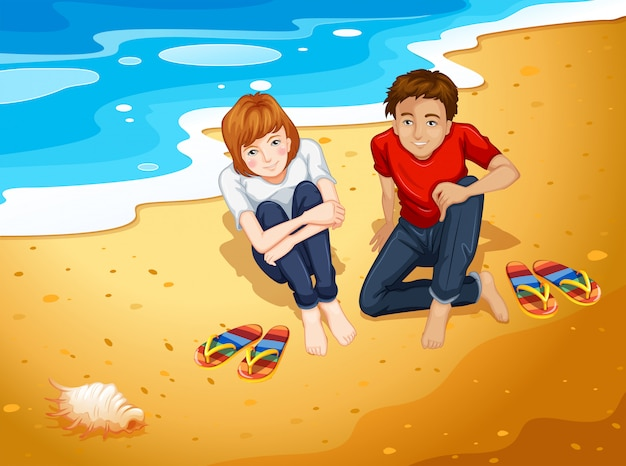 Coppia in spiaggia