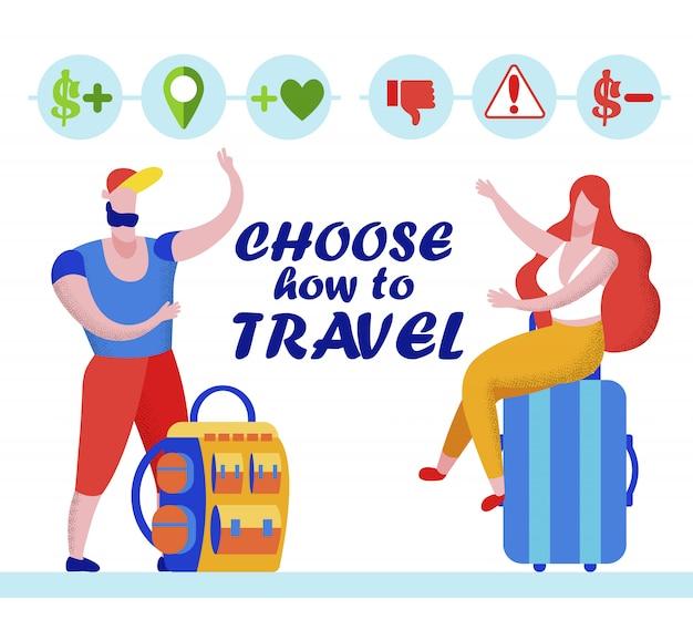 Coppia leggi feedback in agenzia di viaggi su internet