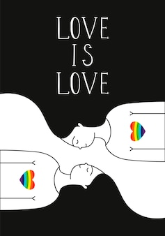 Coppia lesbica illustrazione vettoriale disegnato a mano
