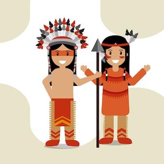 Coppia nativo americano