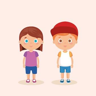 Coppia personaggi per bambini piccoli