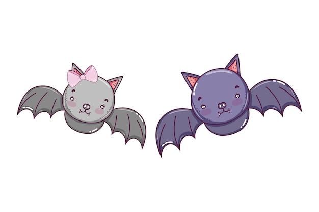 Coppia pipistrello volo degli animali selvatici