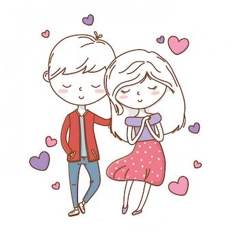 Coppia romantica amore carino
