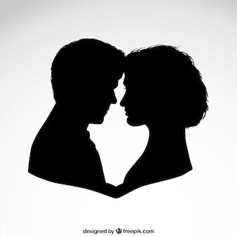 Coppia silhouette