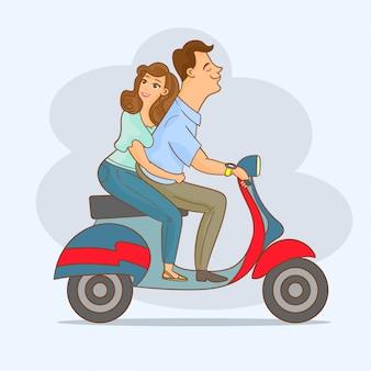 Coppia su scooter