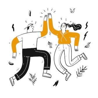 Coppie felici che ballano