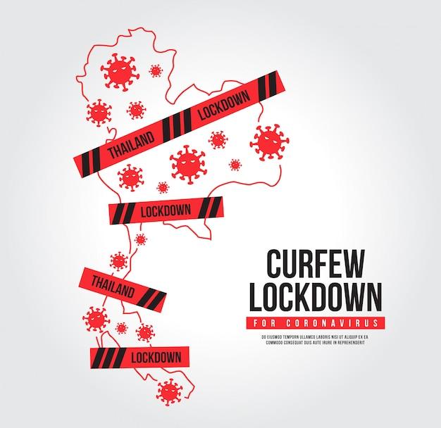 Coprifuoco per coronavirus. icona covid-19 di blocco. blocca la città per impedire la diffusione del coronavirus.