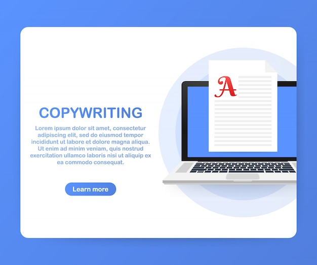 Copywriting, sviluppo di contenuti, libero professionista, modello di post sul blog
