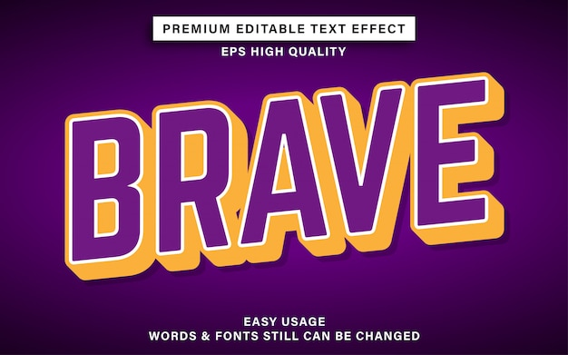Coraggioso effetto di testo modificabile