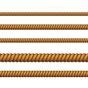 Corda blu scuro di colore diverso per bordo o cornice. corda nautica sottile e spessa. corda da arrampicata intrecciata per lazo o nodi marini.