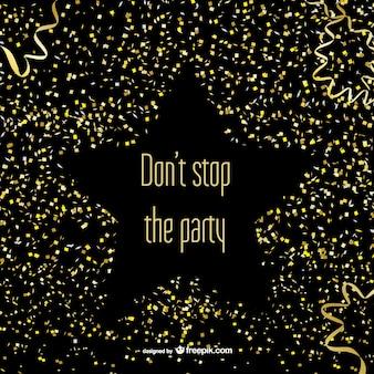 Coriandoli di partito e stelle