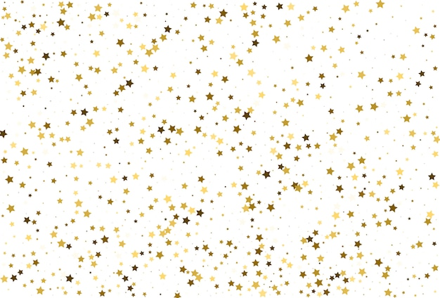 Coriandoli di stelle d'oro. decorazioni per le feste.