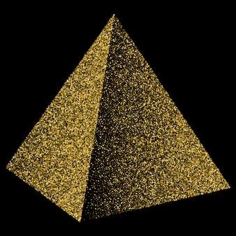 Coriandoli dorati del triangolo della piramide