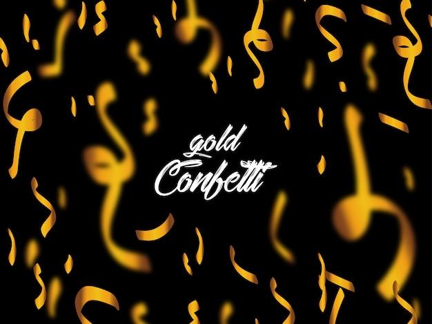 Coriandoli oro su sfondo nero