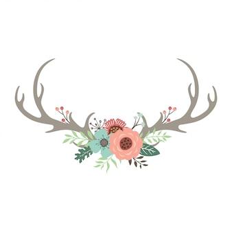 Corni di cervo floreali