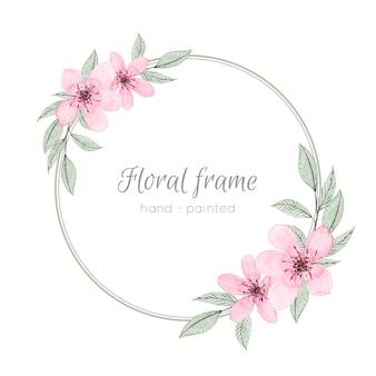 Cornice ad acquerello con fiori pastello