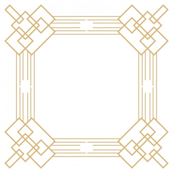 Cornice art deco isolata