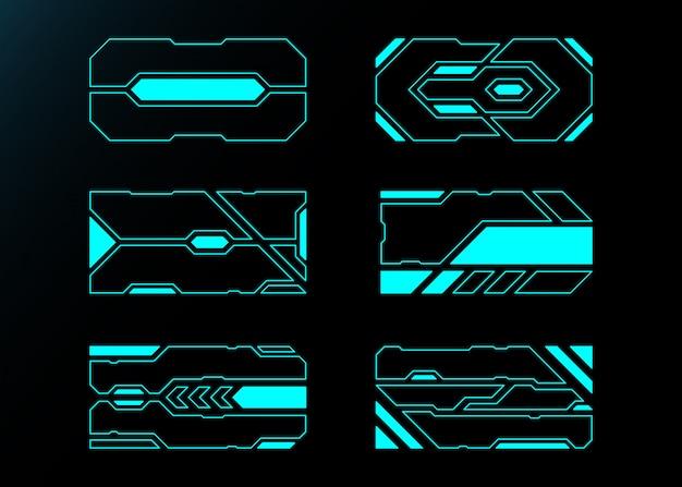 Cornice astratta tecnologia futuro interfaccia hud