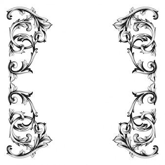 Cornice barocca con bordo ornamentale floreale