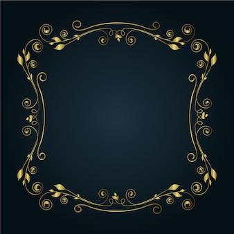Cornice bordo ornamentale naturale dorata