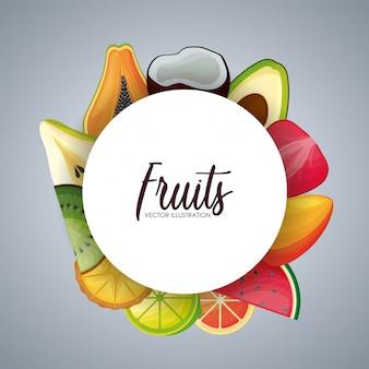 Cornice circolare con frutta fresca