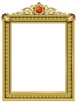 Cornice classica in oro del barocco rococò