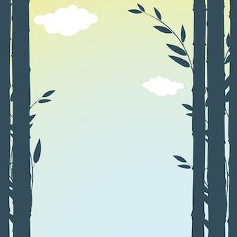Cornice con bambù verde